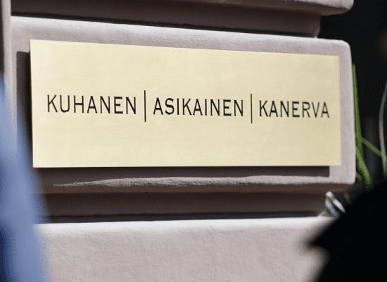 Asianajajat Annika Kemppinen ja Jaakko Kanerva Kuhanen, Asikainen & Kanerva Oy:n osakkaiksi